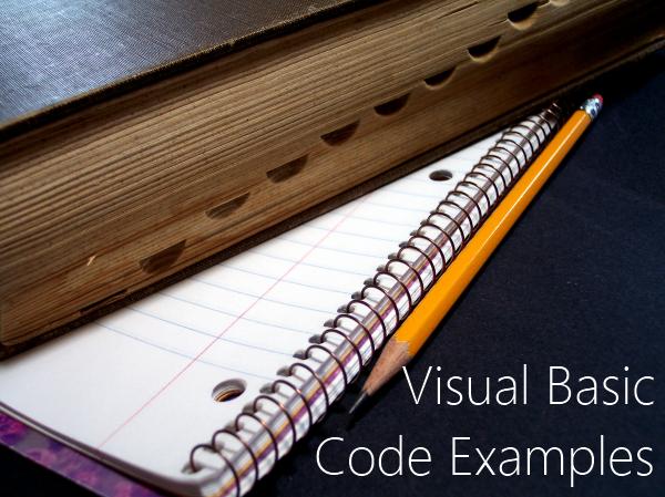 Visual Basic Code Examples
