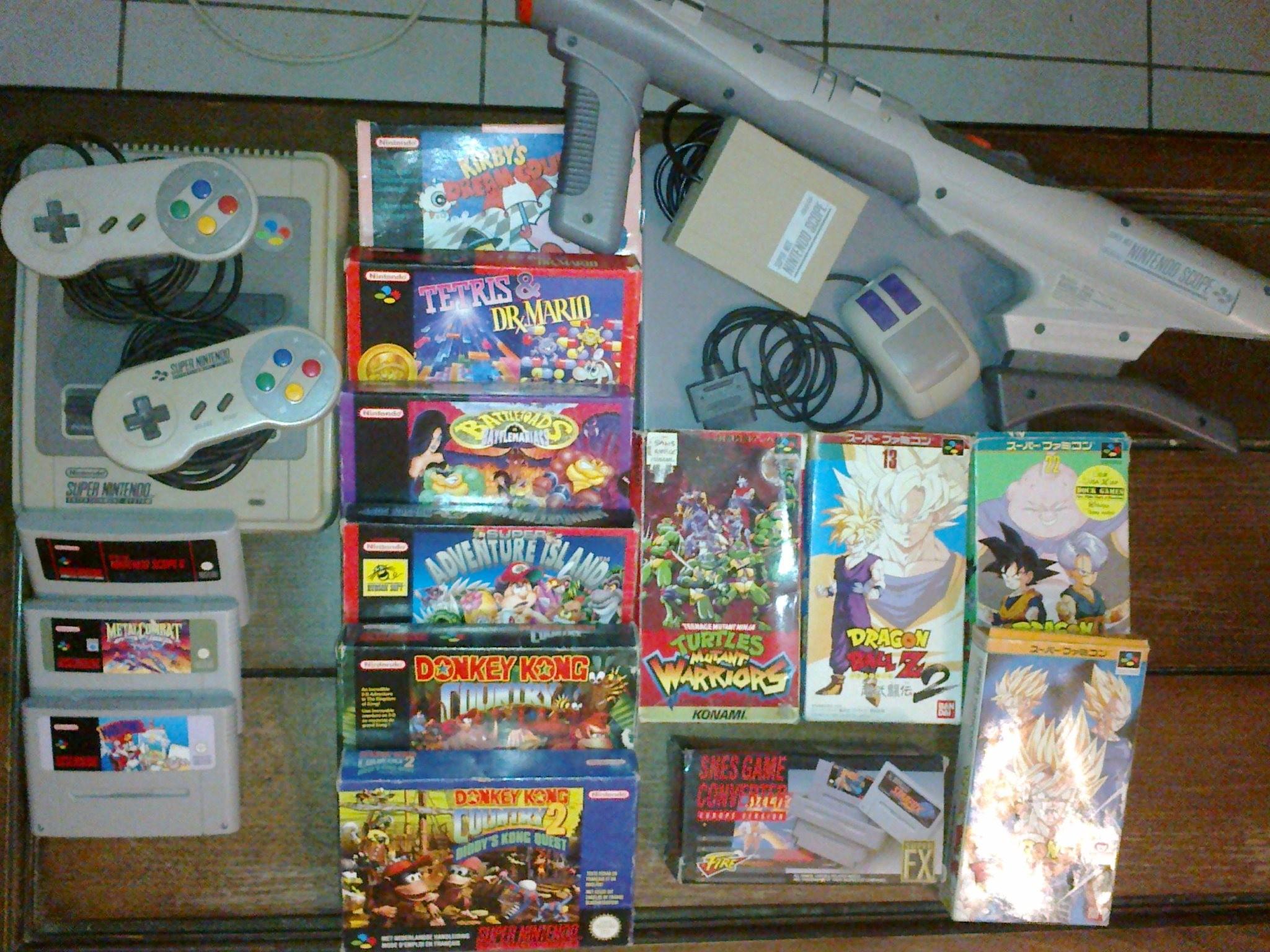 Ma Collection de Jeux vidéo SNES