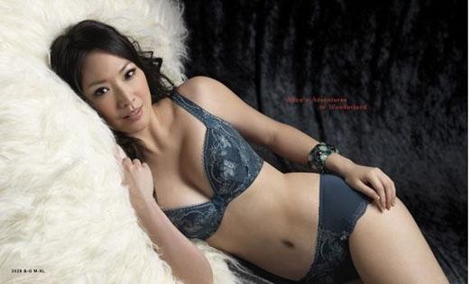 台女星王俐人代言内衣 性感组图