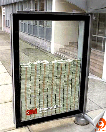 3M security glass ads