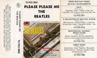 1970 Please Please Me UK Cassette Inlay