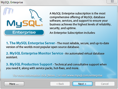mysql on windows