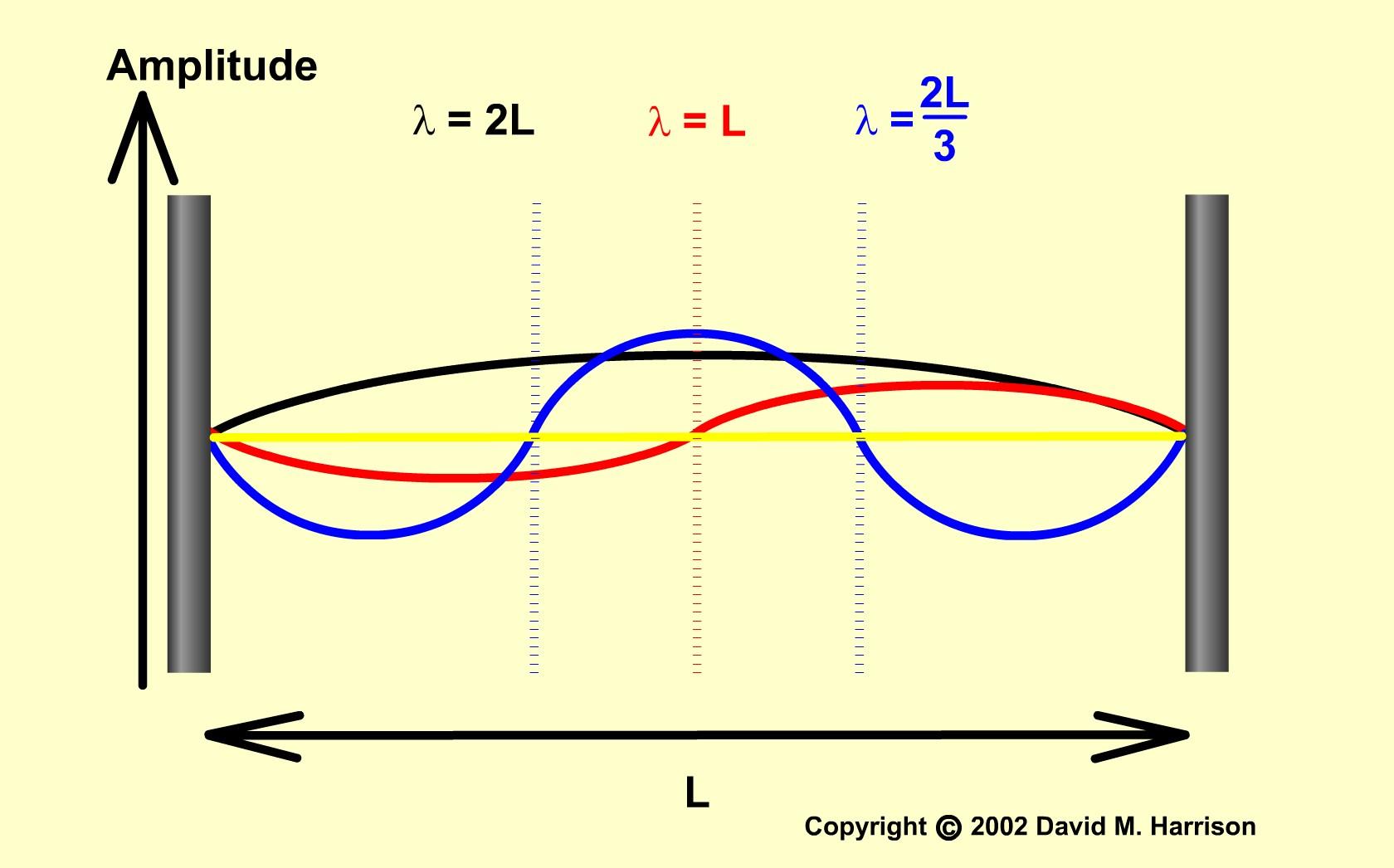 Noduri şi ventre. În noduri nu se oscilează. În ventre se oscilează cu amplitudini maxime.