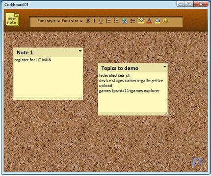 Live Mesh Pack Apps Corkboard