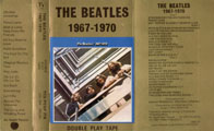 1973 The Beatles Blue Album Cassette Inlay