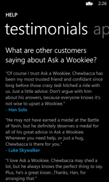 Ask a Wookiee Screenshot 4