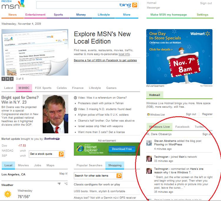 Windows Live Msn 2009
