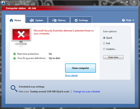 Microsoft Morro Security Essential Free Antivirus