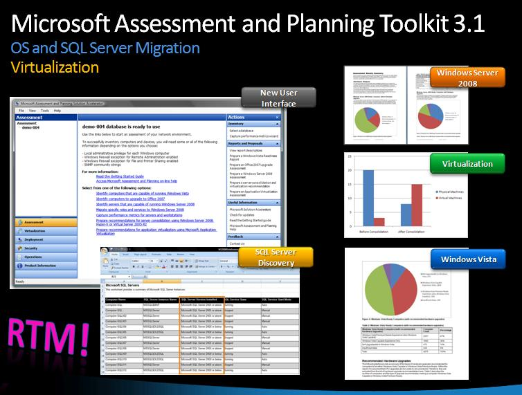 Download Microsoft Assessment and Planning Toolkit 3.1 RTM version now