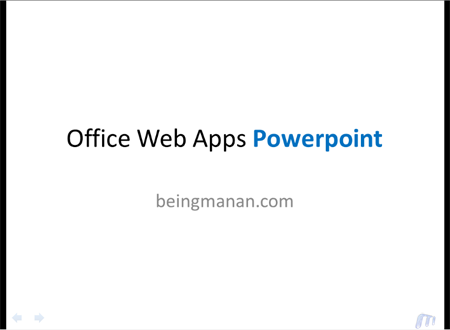 Microsoft Skydrive Office Web Apps Powerpoint Full screen mode
