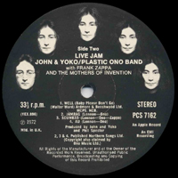Live Jam original UK label