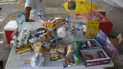Food at takbo.phs aid station (or whats left of it)