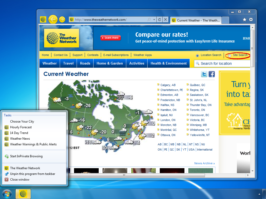 theweathernetwork.com (24-hour weather specialty channel)