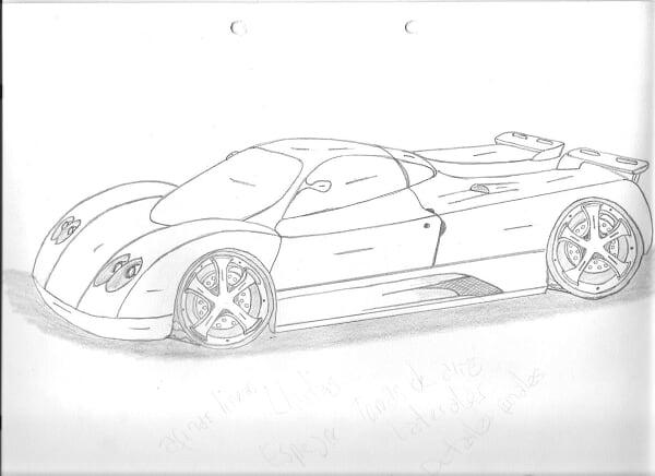 Dibujos de autos faciles a lapiz - Imagui