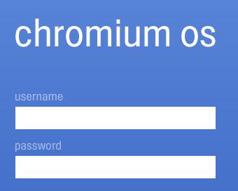 CHrome OS login screen