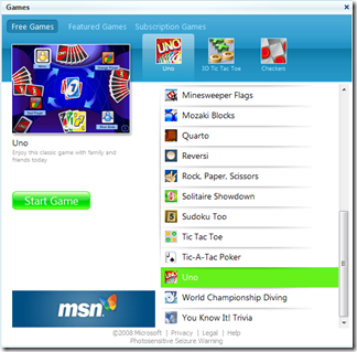 Game Browser (click to enlarge)