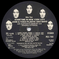 Some Time in New York City original UK label