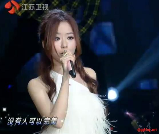 张靓颖 白色清纯小洋装 改变 大胆 2012江苏卫视元宵晚会