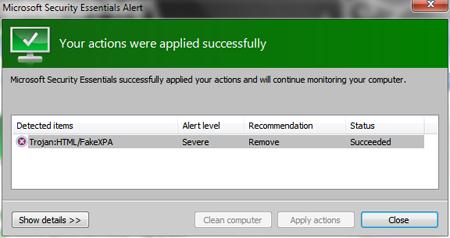 Microsoft Morro Security Essential Free Antivirus