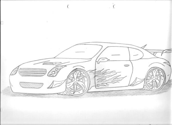 Dibujos a lapiz de carros - Imagui
