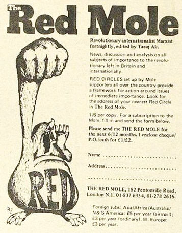Red Mole ad from 1971 edition of International Times
