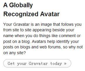 使用Gravatar实现博客评论显示属于自己的头像