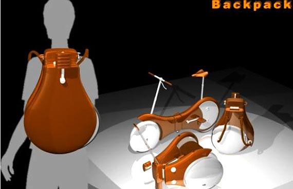 IMAGEM - Veículo do futuro - Backpack Bicycle