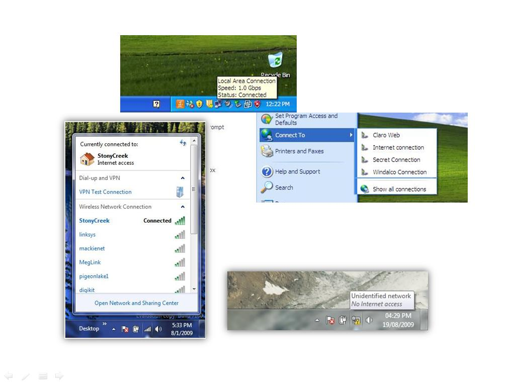 Back In Windows Xp,work Notifications Were Identified By Two Blinking  Displays Windows 7 Displays