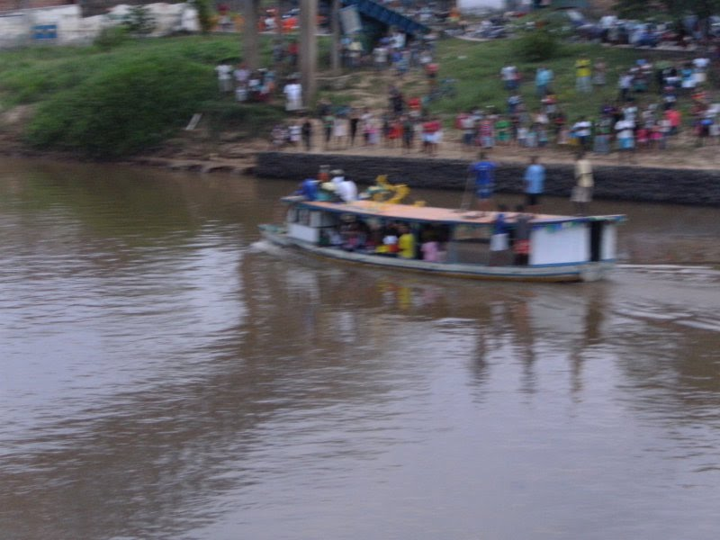 IMAGEM - Festejo e procissão de São Pedro no rio Mearim - bairro Trizidela - Bacabal