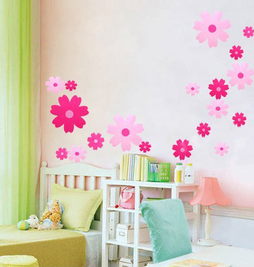 Sheet Size 33cm X 60cm Quality Pvc Stickers Flower Size Biggest Flower