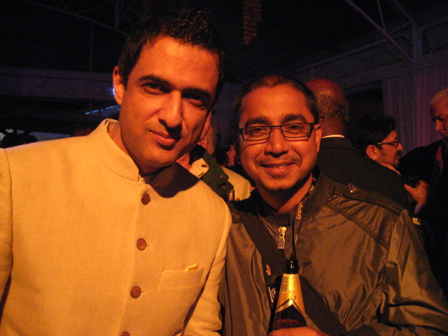 Actor producer Sanjay Suri with Critics Week jury member Bikas Mishra (of website Dear Cinema.Com)