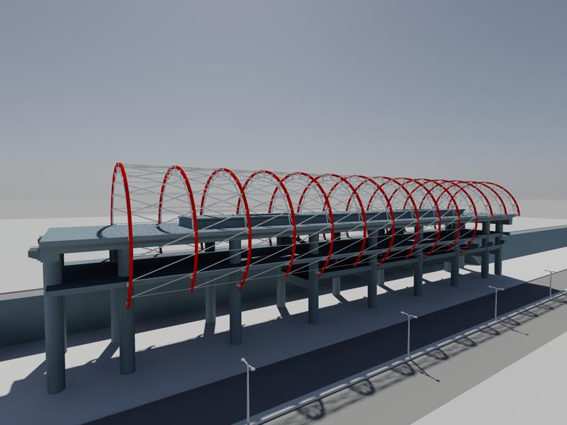 [作品]捷運站體實際案例-建模練習 007014