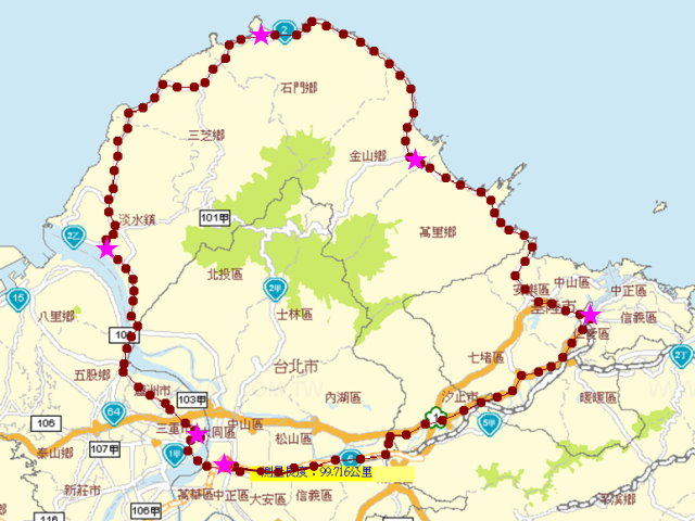 北台灣一圈