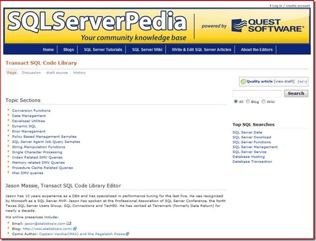 SQLServerpedia Code Library
