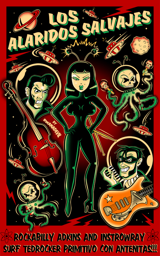influenciados por el psychobilly,rockabilly,surf,rock y tattoo art.