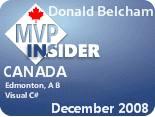MVP Insider - Donald Belcham (December 2008)