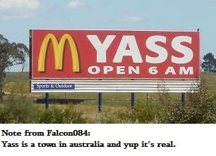 real Mc'donalds sign