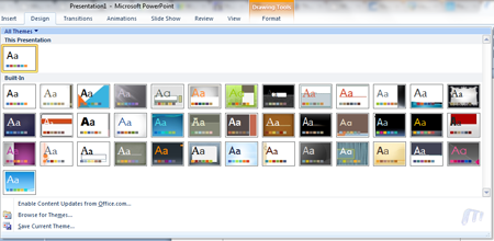 Office 2010 Powerpoint 2010 New Design Templates