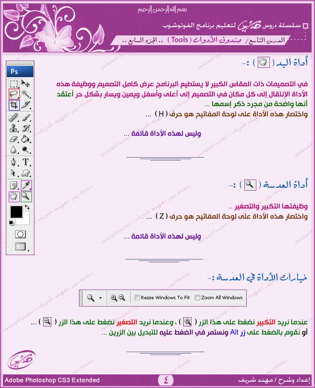 اداة العدسه واليد I-04