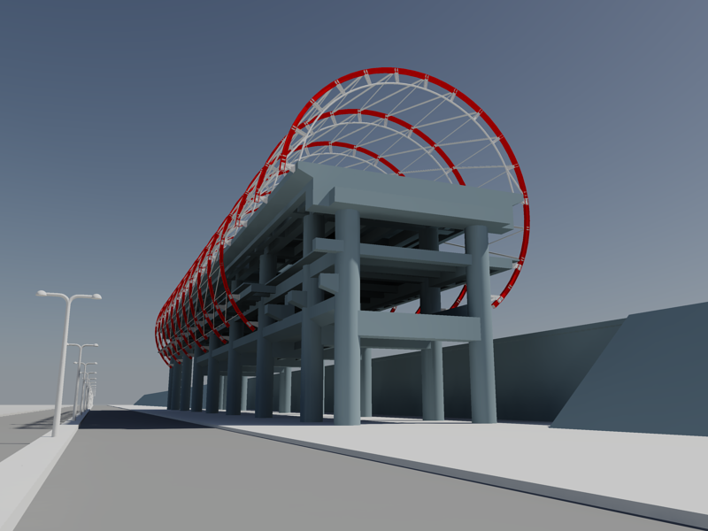 [作品]捷運站體實際案例-建模練習 001