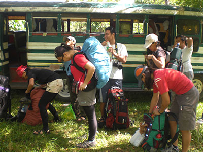 Prepping to start trekking