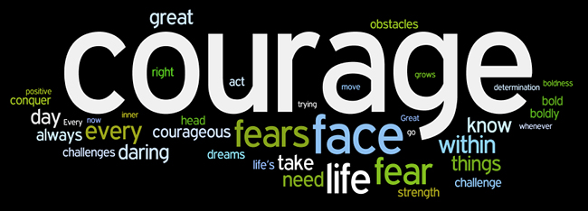 courage affirmations wordle
