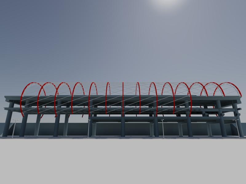 [作品]捷運站體實際案例-建模練習 003