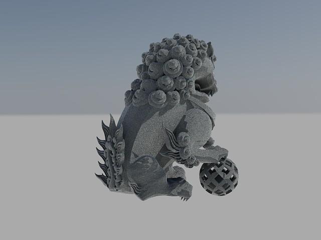 3D石獅子 013