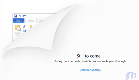 Microsoft Skydrive Office Web Apps Word