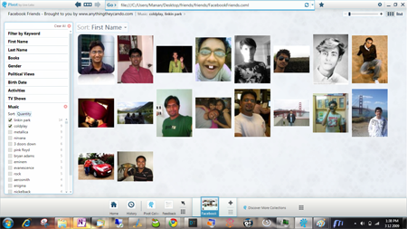 Microsoft Live Labs Pivot browser facebook friends pivot screen shot 02