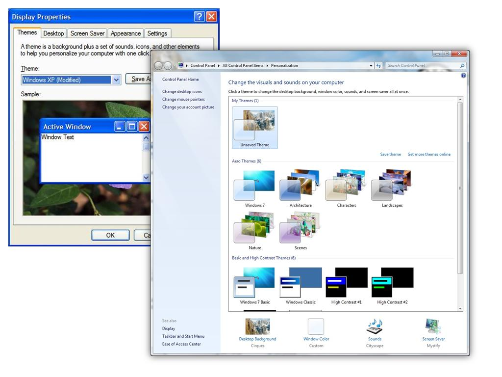 Windows 7 background image wont change - As Far Back As Windows 95 Up To Windows Xp We Had The Display Properties Dialog Which Hosted The Various Options Such As Themes Background Desktop