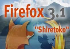 firefox 3.1 shiretoko