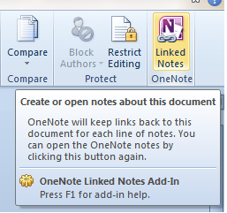 Office 2010 Word 2010 OneNote Word Integration
