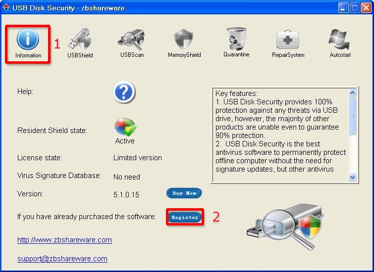 ������ ��������� Antivirus Secruity